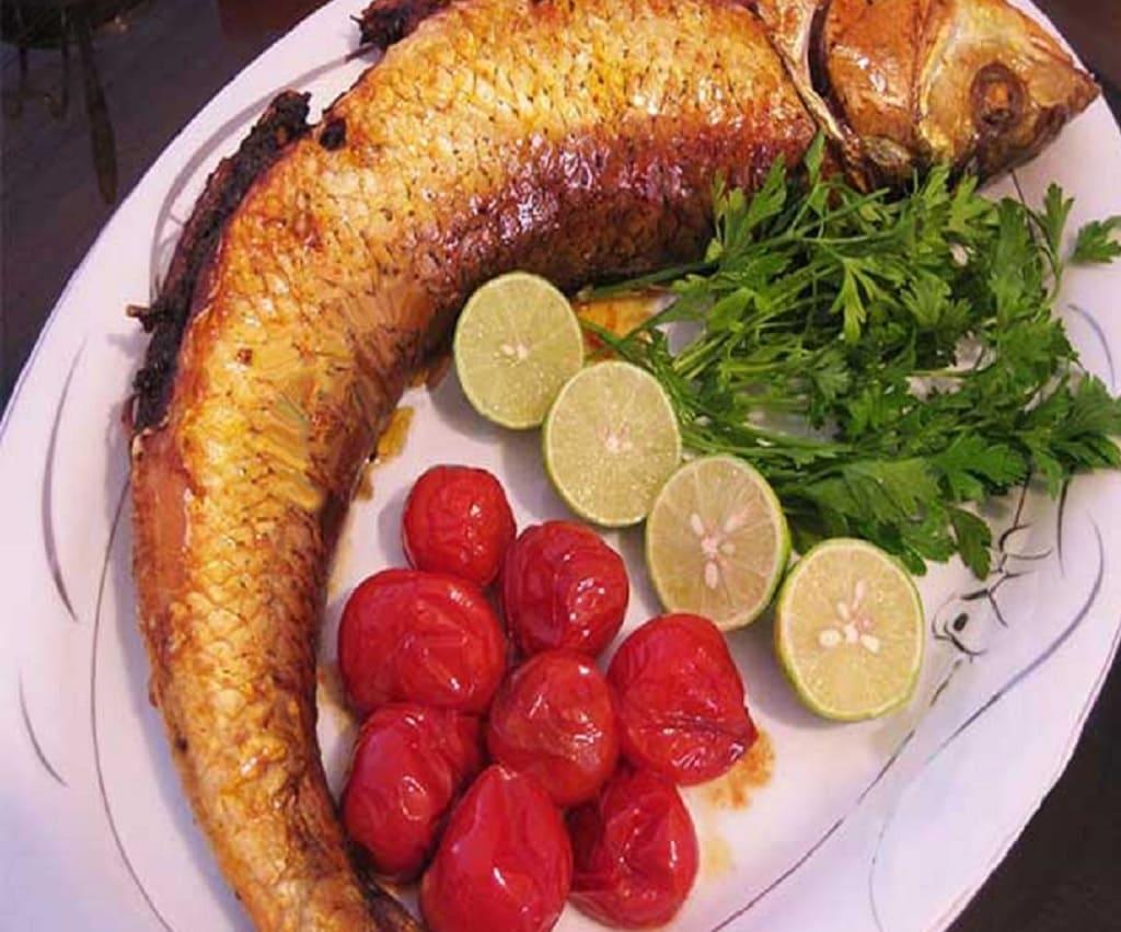 غذا با ماهی سفید