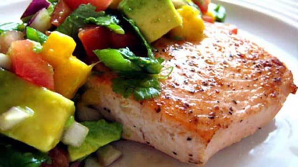 خوراک ماهی در فر با اناناس