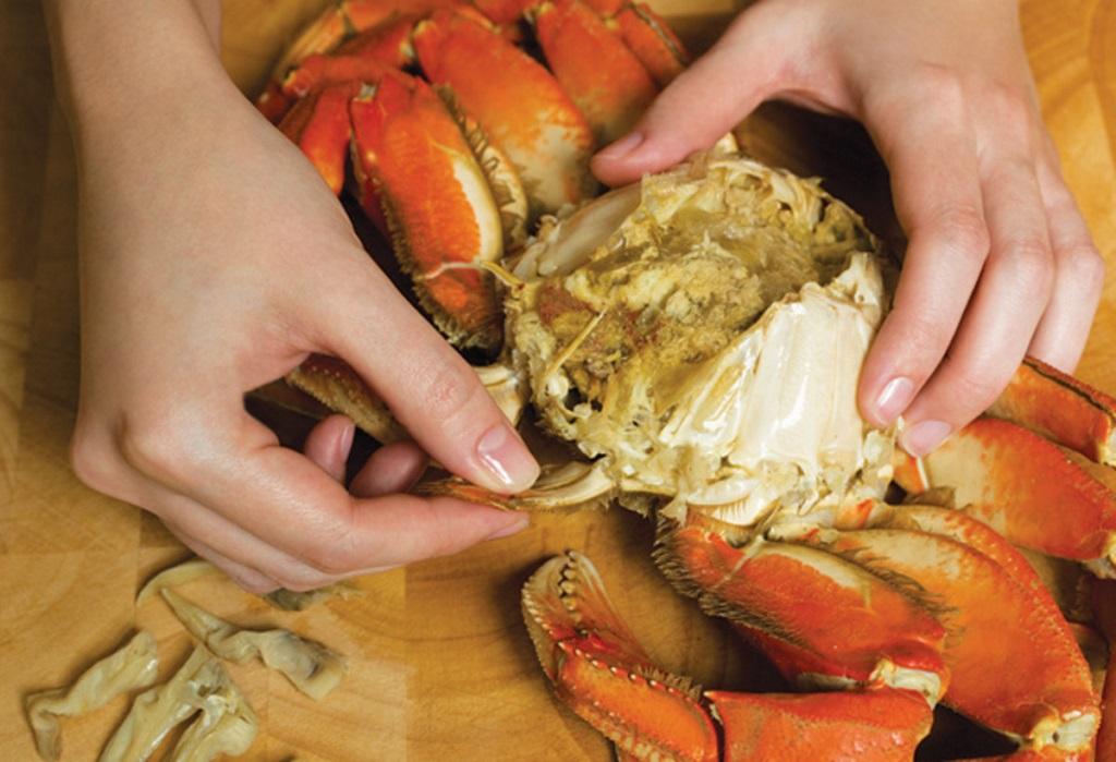 پاک کردن و طبخ کتلت خرچنگ