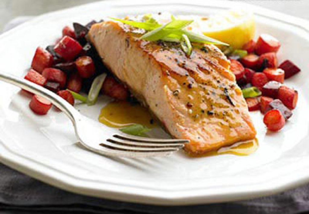سالمون نروژی و هویج کبابی